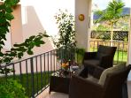 Balcony ground floor in