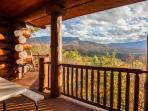 Large main level deck offers amazing mountain views!