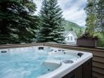 Melt away the day in the Private Outdoor Hot Tub nestled in this quiet mountain neighborhood.