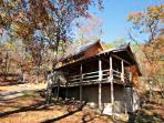 Townsend Cabin features two bedrooms, two bathrooms, with tons of amenities, from fire pits to zip lines!