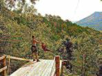 Feeling Adventurous? Go for a ride on the zip line, on site!