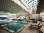 The largest indoor swimming pool in the Vail Valley.
