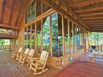 Spacious Deck with Seating All Around!  Time to grill up those burgers and hotdogs on your choice of the gas or...