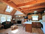 Fully Equipped Kitchen with extra seating for two at the Kitchen Counter