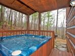 Enjoy a Little Seclusion with the Wooded Views in the Hot Tub on the Back Deck