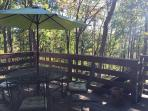 Deck to eat outside and enjoy the view