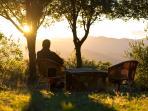 coucher de soleil sur votre terrasse privée