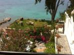 Sea front Villa's private area for use only by our guests