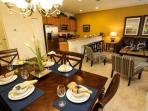 Open Dining Area, Kitchen & Living Area w/Pool Access