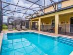 Lanai w/Patio Furniture, Safety Fence and Oversize Pool