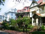 Historic Homes across the street from The Holly Suite