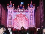 Light Night 2015 - on the Royal Mile (right outside the apartment)