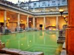 The Historical Roman Baths. A must during any visit to Bath.