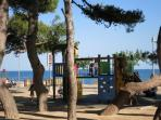 let you children explore the playgrounds by the beach.