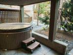 Private Hot Tub on patio