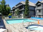 Beautiful heated outdoor pool and hot tub