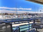 Balcony overlooking the Oceanside Harbor