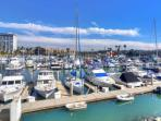Harbor views from your personal balcony