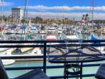 Patio with harbor view