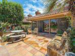 Spacious patio with gas BBQ