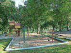 Nearby Playground with Lake Taneycomo in the background.