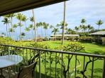 Enjoy a morning cup of coffee on your private lanai.