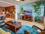 Beautifully upgraded spacious one bedroom Mahinahina Beach oceanfront.