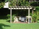 Barbecue - forty steps from lanai beside the pool