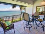 Large Lanai  - a great place to enjoy views of the Pacfic and neighbor islands.