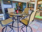 Enjoy your dinner on the Lanai with table seating for four - electric grill on lanai.