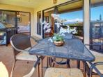 Spacious lanai with seating for four - bbq time!