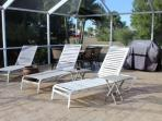 Lanai Loungers and propane grill
