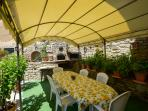 gazebo#forno a legna#dinner#barbeque]#fiori#limoni#pizza#cuoco#lesson#