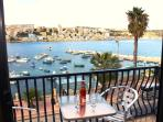 Enchanting seafront view from the main balcony