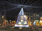 place d'Arbois et ses illuminations de Noël