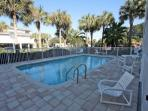 Heated Communal Pool-Perfect for soaking up sun or winding down from the Beach