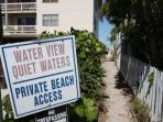 Private Beach Access Across the Street-Directy across the street.