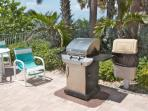 Communal Grilling Station by Pool Area-Perfect for Grilling Burgers or that Fresh Catch