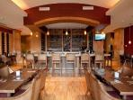 Sip local wine at the chic, on-site wine bar
