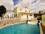 Charming 19th Century Cottage with vast range of period features, sea views and heated private pool