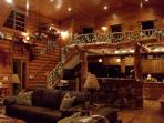 Enjoy the Christmas season in the warmth of a cozy log setting. Snowmobile trails just 4 miles away!