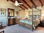 Tommy Bahama fine furniture in Master bedroom - king bed