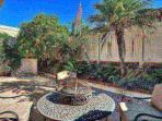 Backyard with BBQ and dining area 2015