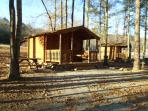 Vacation rental  cedar log Cabin 3 Birmingham AL.
