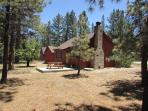 A Sweet Pine Cabin is unique due to the oversize 1/4 acre lot.  Room to play.