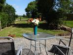 Views across rolling countryside...enjoy the outdoors. Alfresco dining at its best!