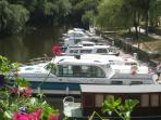 'Messing around in boats' Hire a boat and meander up the River Oust