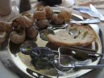 Snails... a local delicacy.. give then a try?