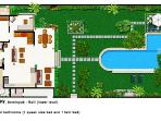 Villa Poppy - Lower Level Floor Plan