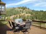 BIG DECK HAS A SMOKER, BBQ AND A GREAT VIEW OF PIKES PEAK